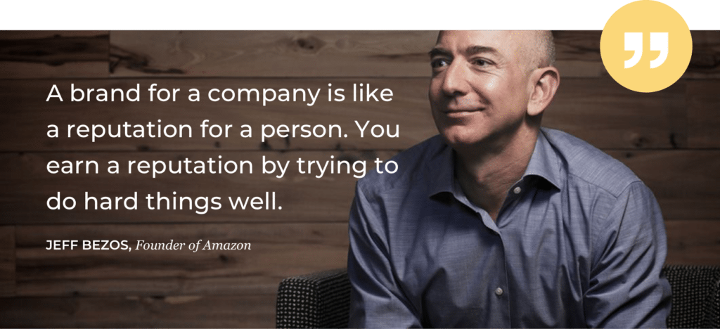Jeff Bezos quote - trust hacking